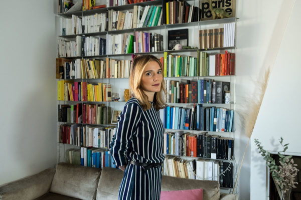 "Eleonora Marangoni, author of ""Lux""a novel, winner of ""Premio Neri Pozza"", comparative literature specialist, focused on M.Proust, pictured in her house in Milan, 6/12/2018"
